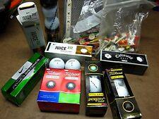 GOLF BALL lot Titleist Nike Juice Callaway Top-Flite various 27 balls w/ tees