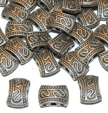 MB360p Antiqued Copper 10mm Rectangle 3-Hole Spacer Bar Metal Beads 20pc