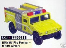 CORGI Chicago O'Hare Fire Pumper Truck Humvee Hummer 35 Die-cast firetruck New