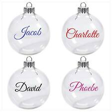 Personalised Name / Word Vinyl Decal Sticker Christmas Bauble Xmas