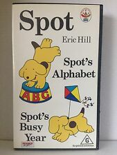 SPOT by ERIC HILL ~ SPOT'S ALPHABET and SPOT'S BUSY YEAR ~ VHS VIDEO