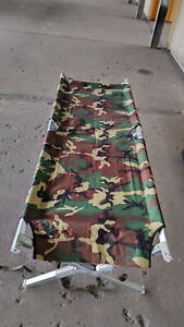US Army Feldbett Liege Schlaf-Möglichkeit Tarnmuster Bett TOP Zustand