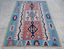 3'7''x4'10'' New Handmade Turkish 100 % Wool Oriental Small Sized Kilim Rug