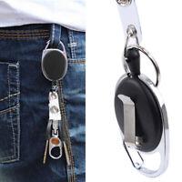 1/3pcs Retractable Recoil Pull Reel Badge Key Chain Belt Clip ID Card Holder Hot