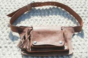 Waist Pack Leather Fanny Pack Women Festival Belt Bag Utility Belt Men Hip Bag