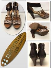 Naturalizer N5 Comfort NEW Size 4 Brown LEATHER ZIPPER   Snakeskin Print 830105