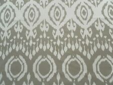 Andrew Martin Curtain Fabric MARQUIS 2.25m Taupe - Ikat Cotton Design 225cm