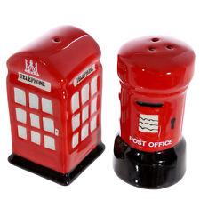 NEW Ceramic Salt & Pepper Set Post & Telephone Box Home Decoration London LON03
