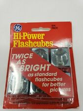 GE Hi-Power Camera Flashcubes 6 Pack