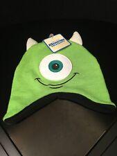 Disney Pixar Monster University Mike Wazowski Knit Beanie Winter Hat New Green