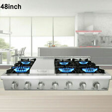 6 burner Range stove 48 Inch Rangetop Stainless Steel Thor Kitchen Hrt4806U Usa