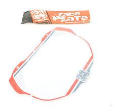 Free Agent Pro Red Platinum BMX Bike Number Plate