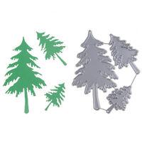 3pcs Christmas Trees Metal Cutting Dies For DIY Scrapbooking Album Paper Card YR