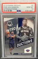 2019 ZION WILLIAMSON RC PSA 10 GEM MT MOSAIC INTRODUCTIONS ROOKIE