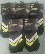 Nike Performance No Show Dri-FIT socks - 5 pairs BLACK - SMALL - NEW WITH TAGS