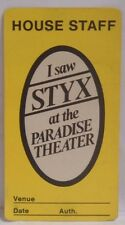 Styx / Tommy Shaw - Original Concert Tour Cloth Backstage Pass