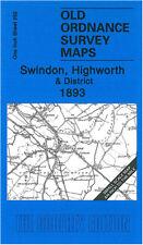 OLD ORDNANCE SURVEY MAP SWINDON, CRICKLADE, HIGHWORTH, PURTON & DISTRICT 1893