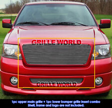 For 06-08 Ford F-150 Billet Grille Insert Combo