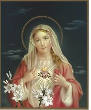 "Catholic Picture Print IMMACULATE HEART of MARY 8x10"" Ready to be framed"