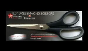 "Scissors Shears Grunwerg Dressmaking Tailors 8.5"" Titanium Design-Surgery®"
