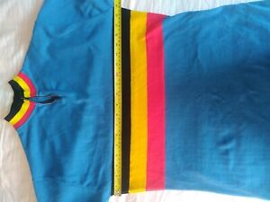 Belgium cycling  jersey. Medium cotton Retro 30 years s/s quarter zip 3 pockets