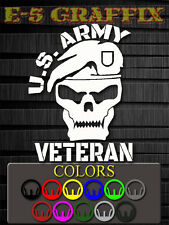 A1 US Army Veteran Vinyl Decal Beret Special Forces Recon USMC Navy Air Force