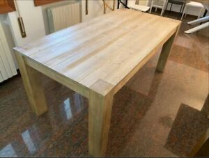 Table IN Spruce Natural, Effect Brushed, Various Sizes - 2 Extending