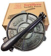 Heavy Gauge Cast Iron Corn And Flour Tortilla Roti Flatbread Press puri press