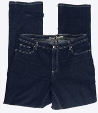 492720d4873 ASHLEY STEWART Women s Straight Leg Fit Jeans Dark Wash Size 12 Stretch EC