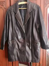 Ladies Genuine Leather 3/4 Length Brown Jacket - County Coats London