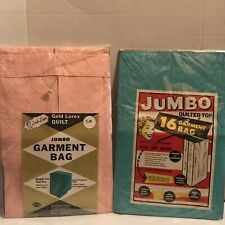 Lot Of 2 Vintage Quilted Jumbo Garment Bags Sealed Never Used