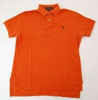 Ralph Lauren Piquè Poloshirt Polohemd Herren Gr.M orange uni Knopf -S793