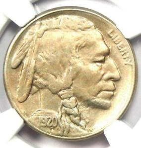 1920-S Buffalo Nickel 5C Coin - Certified NGC AU Details - Rare Date!