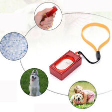 Dog Pet Click Clicker Training Obedience Agility Training Aid Wrist Strap Tools