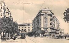CPA ALGER RUES MONGE ET RUE D'ISLY (TRAMWAY