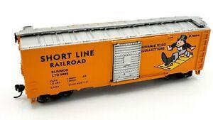 Bachmann HO Scale Train Monopoly SHORT LINE RAILROAD Box Car w/ Sliding Door LN