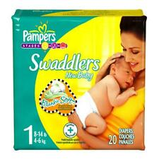Pampers Swaddlers Baby Diaper Tab Closure 8-14 LBS - Size 1 - 20/PK