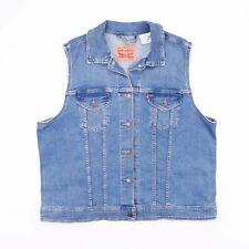 LEVI'S Blue Sleeveless Denim Gilet Jacket Mens Size 2XL