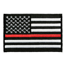 Thin Red Line American Flag Patch, Patriotic Firefighter Patches