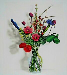 "LITHOGRAPH TITLED ""CLEAR VASE BOUQUET II"" OF FLOWER STILL LIFE"