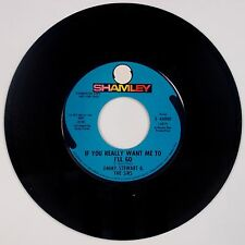 JIMMY STEWART & THE SIRS: If You Really Want Me To I'll Go SHAMLEY Promo 45 Rare