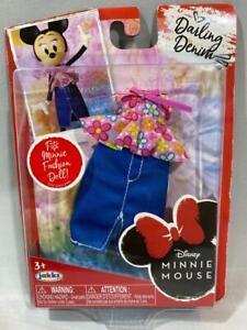 Disney Minnie Mouse Fashion DARLING DENIM Floral Top Denim Skirt - New