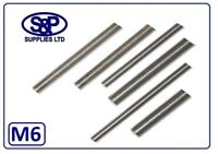 M6 (6MM - 6mm) STAINLESS STEEL STUDDING STUD THREADED BAR ST/ST 100MM TO 350MM