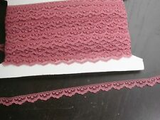 """Scalloped Lace 1/2"""" (13mm) Rose Wedgewood Color Soft 40 Yards FREE US SHIPPING"""
