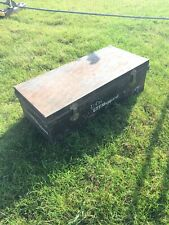 Vintage Metal Steamer Trunk Chest Storage Box Ship 🚢 Worldwide