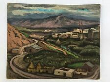 Maroc Orientalisme Robert DIAZ DE SORIA (1883-1971) Huile /carton Vue de Fès