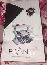 Makeup Brush Drying Rack Stand for Brushes and Sponges - Rivanli Organizer