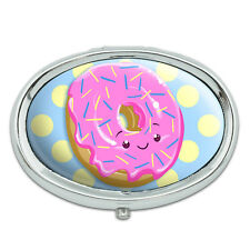 Cute Donut Metal Oval Pill Case Box