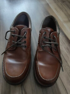 Clarks Mens Brown Leather Lace Up Shoes Size UK 9