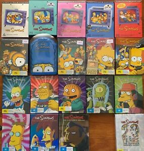 THE SIMPSONS DVD Box Set Seasons 1-18 + 20 Region 4 PAL Collector's Editions